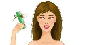 выпадение волос - признак нехватки витаминов