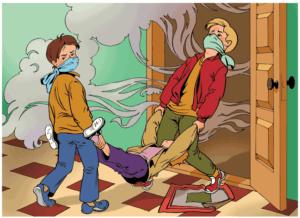 действия при отравлении бытовым газом