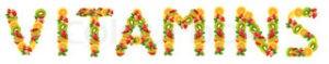 Красивая надпись витамины - vitamins
