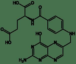 Химическое строение молекулы фолиевой кислоты