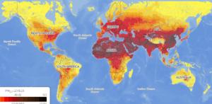 Карта загрязнения воздуха в мире