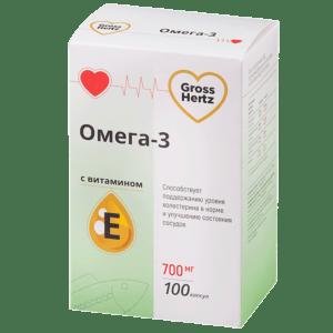 Гроссхерт омега 3 с витаминов Е 100 капсул