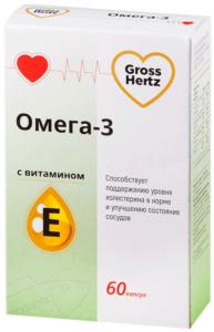 Гроссхерт омега 3 с витаминов Е 60 капсул